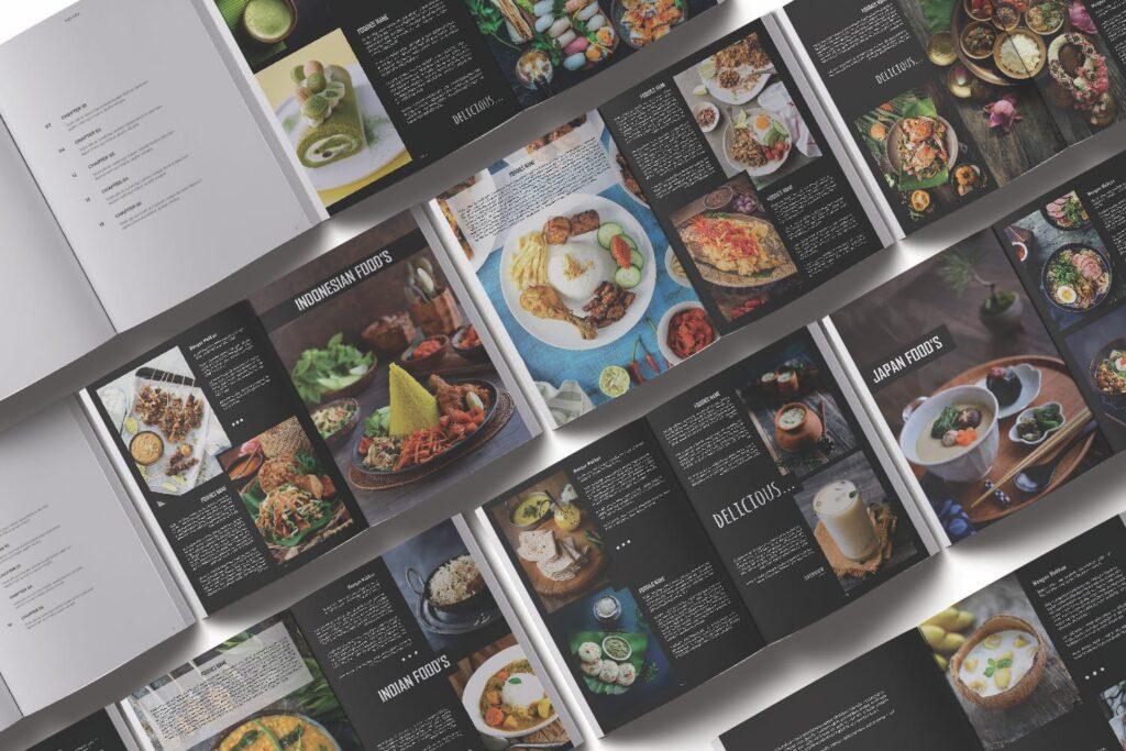 高端美食家餐饮美食料理周刊杂志模板FOODIES Photograph Lookbook插图(6)