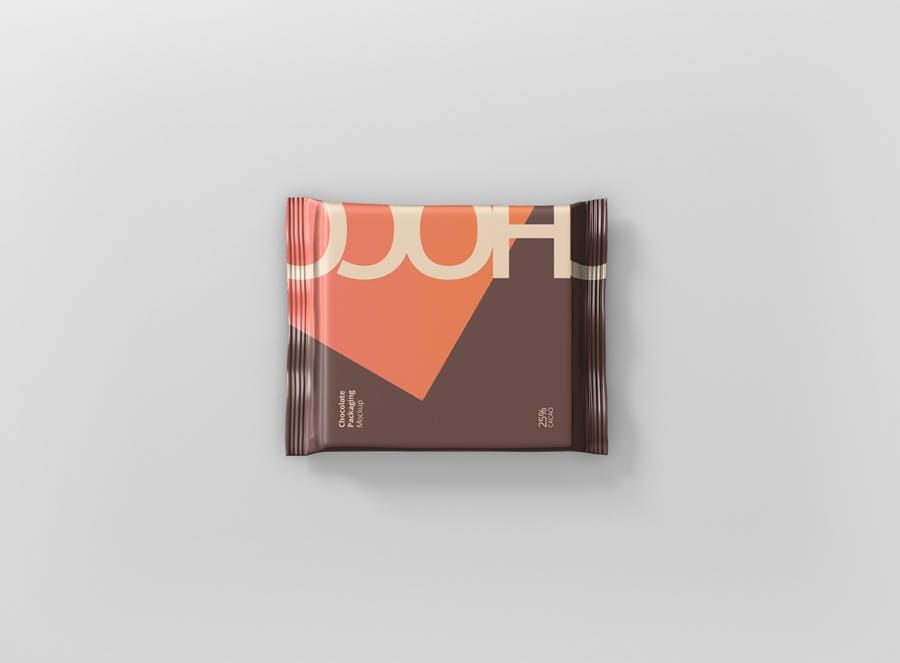 真空巧克力包装模型样机素材下载Foil Chocolate Packaging Mockup Square Size插图(6)