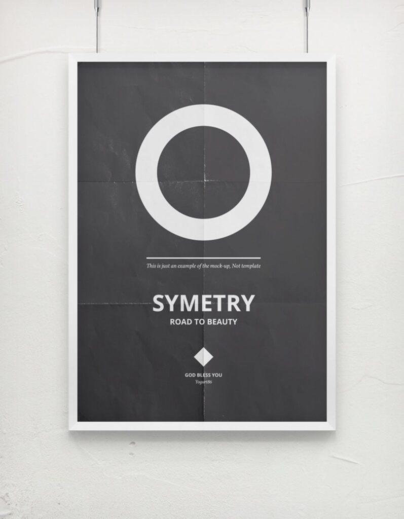 海报展示画框相框模型样机效果图Frame For Your Work 2插图(6)