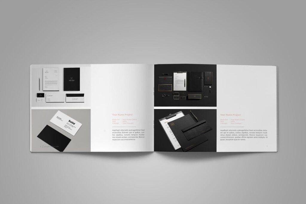 设计师工作产品/室内设计/家居设计展示画册模版Graphic Design Portfolio Template插图(6)