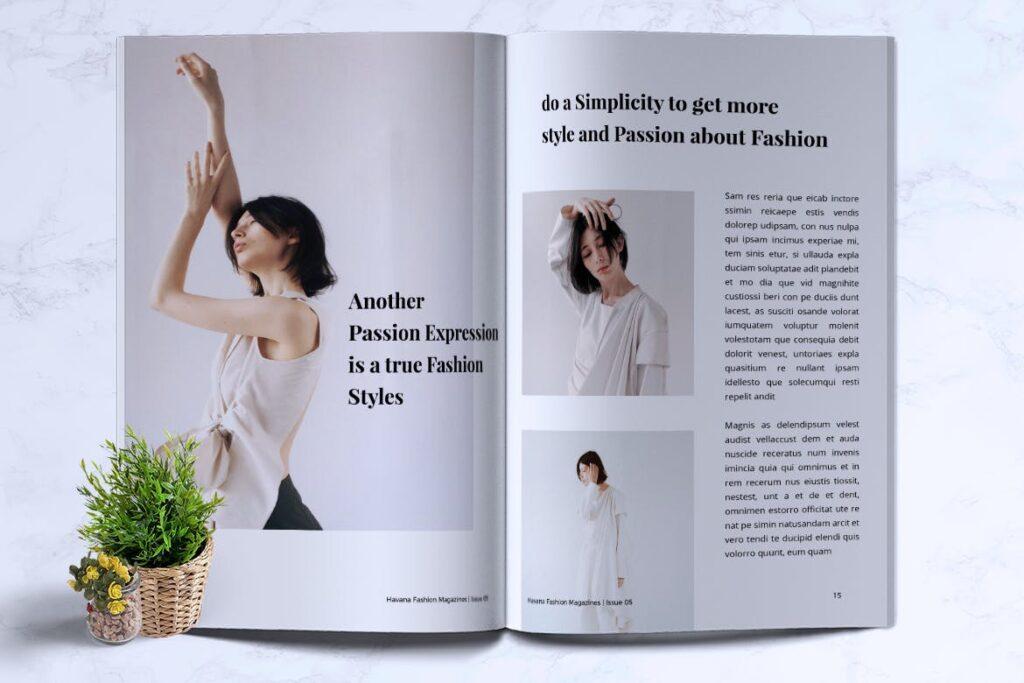 简约风格摄影工作室画册杂志模板HAVANA Minimal Magazine Fashion插图(6)