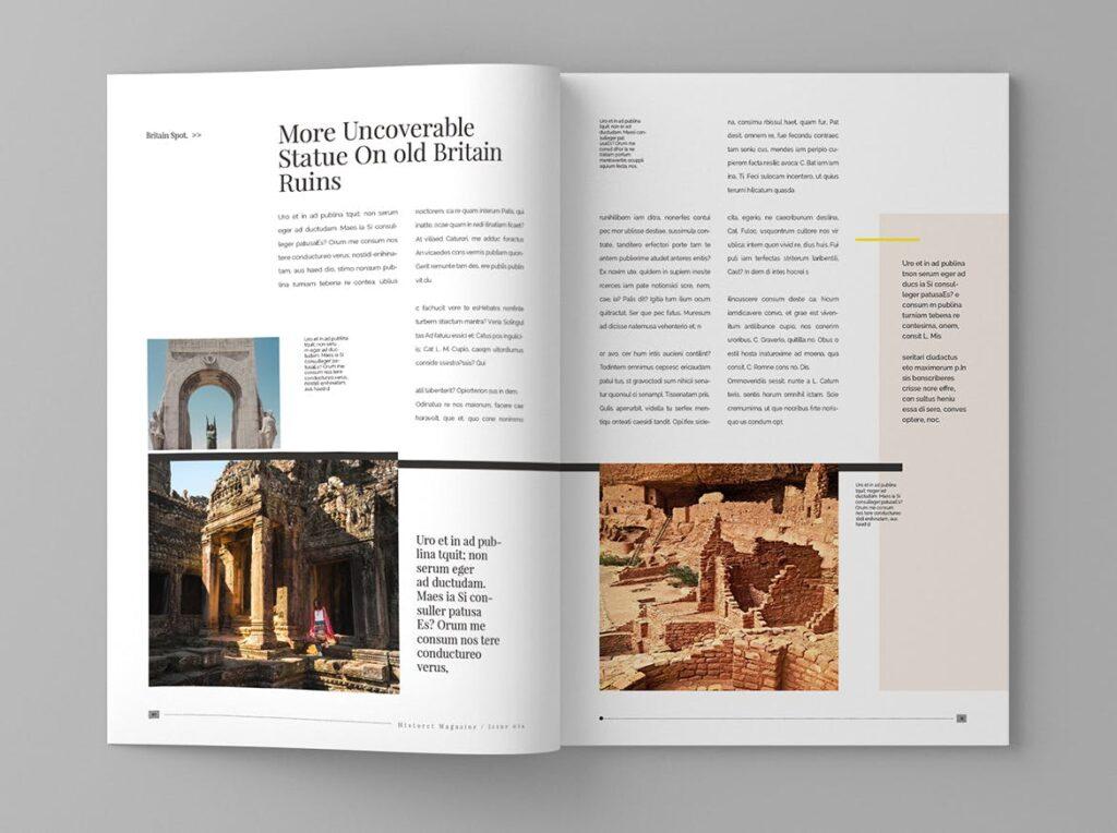 复古风格历史介绍类型杂志模板素材Historct Magazine Template插图(6)