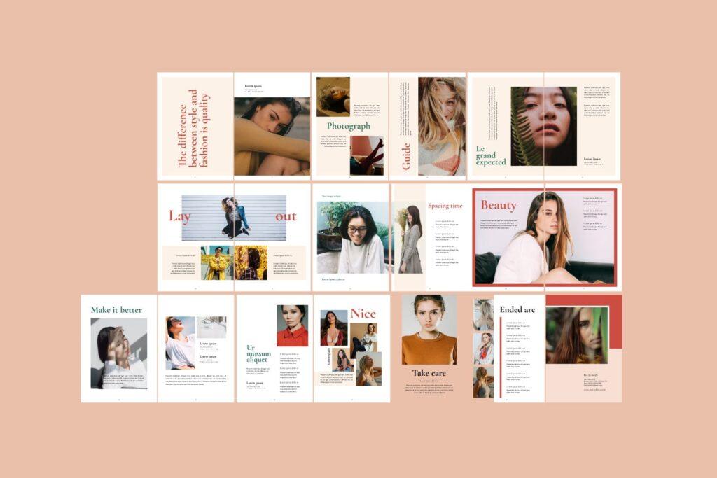 时尚潮流行业/室内设计工作室介绍画册杂志模版Luxury Brochure Catalogue minimal Corporate Agency插图(6)
