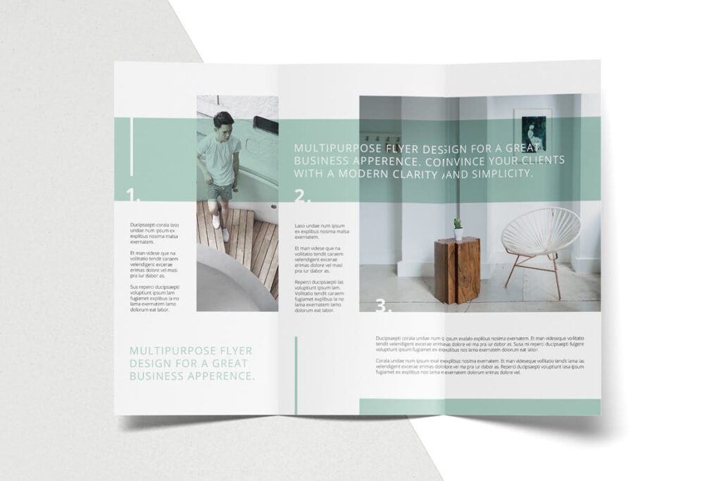 企业简洁板式三折页模板素材下载MINT Multipurpose Trifold Brochure插图(6)