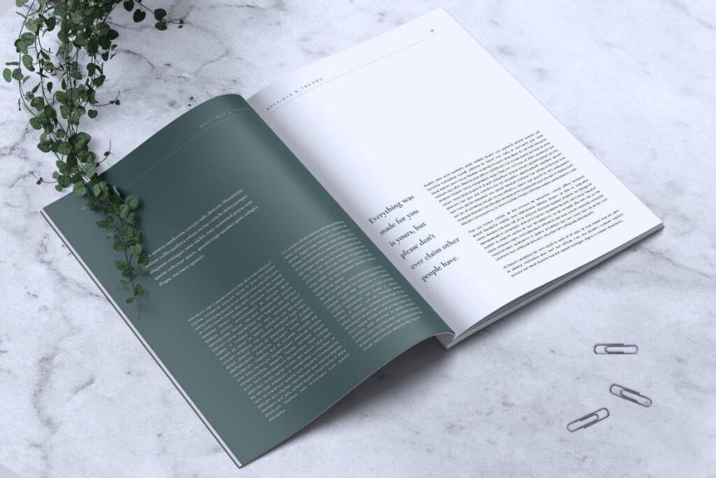 优雅时尚多用途杂志模板MISQUEEN Minimal Magazine Styles插图(6)