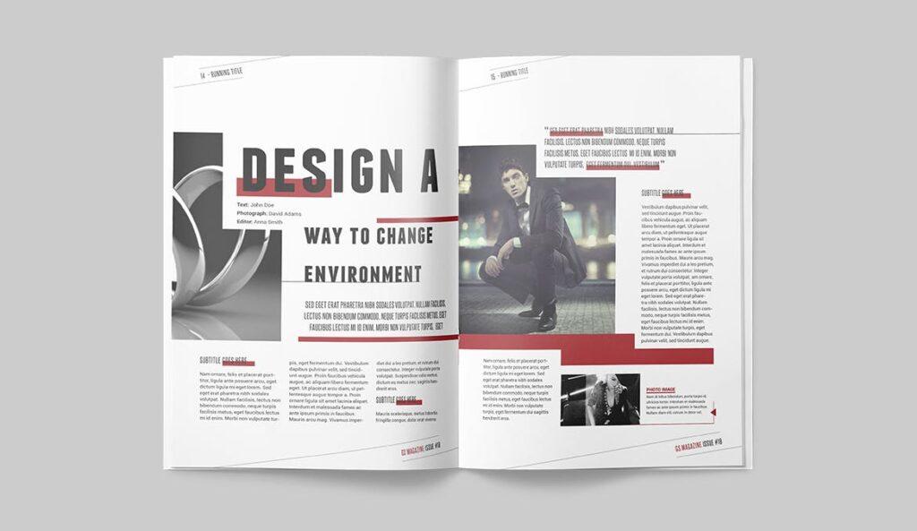精英访谈采访主题杂志模板素材Magazine Template 8NSXE49插图(5)
