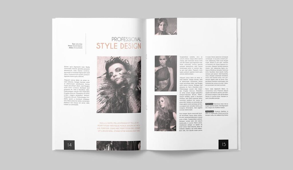 企业多用途杂志画册模板素材下载Magazine Template 4DG6APQ插图(6)