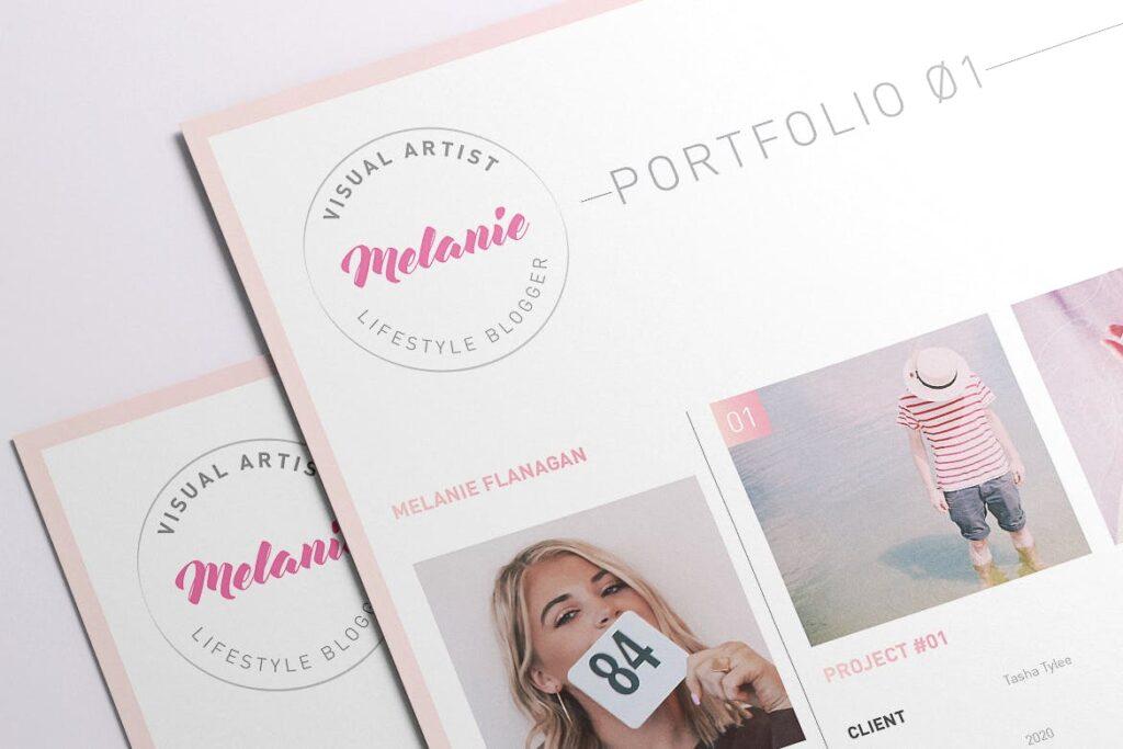 时尚多行业多用途印刷类模版素材Melanie Creative Stationery 01插图(6)