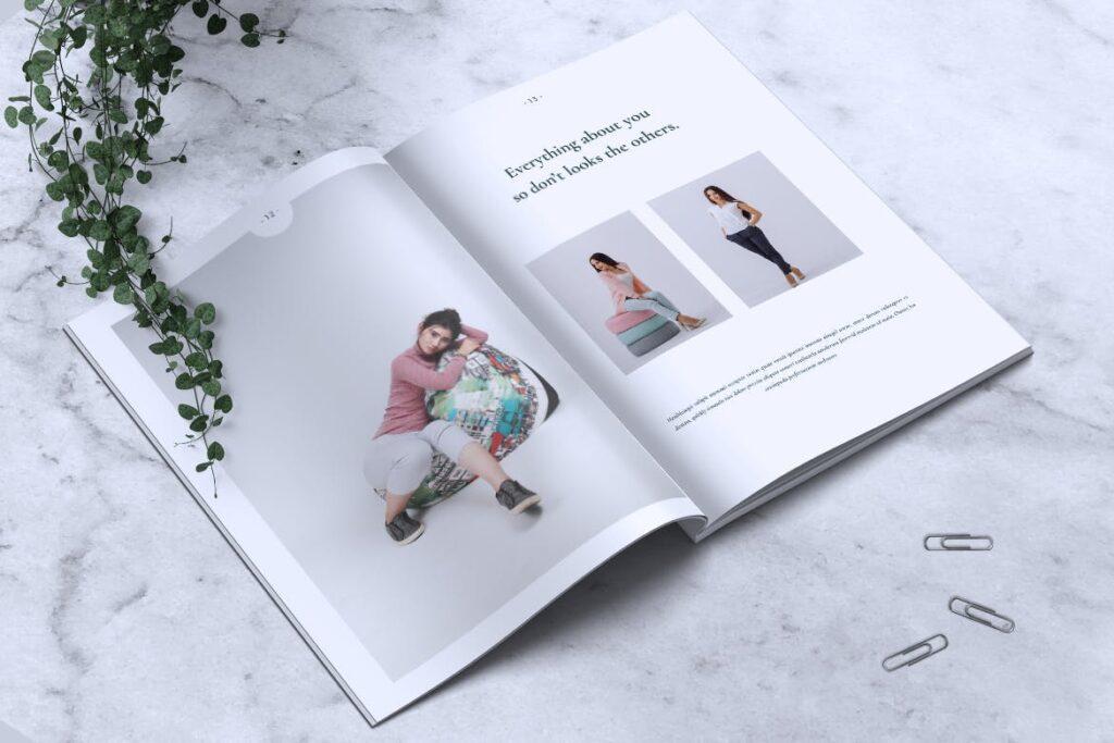 简约企业商务小册子目录/多用途画册模板PLUMERY Minimal Magazines插图(6)