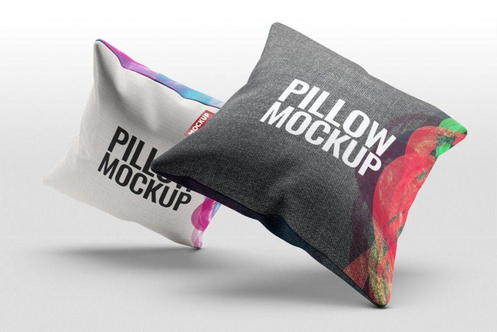 多角度抱枕样机3D模型效果图展示Pillow Mock Up Jb57q3插图(6)