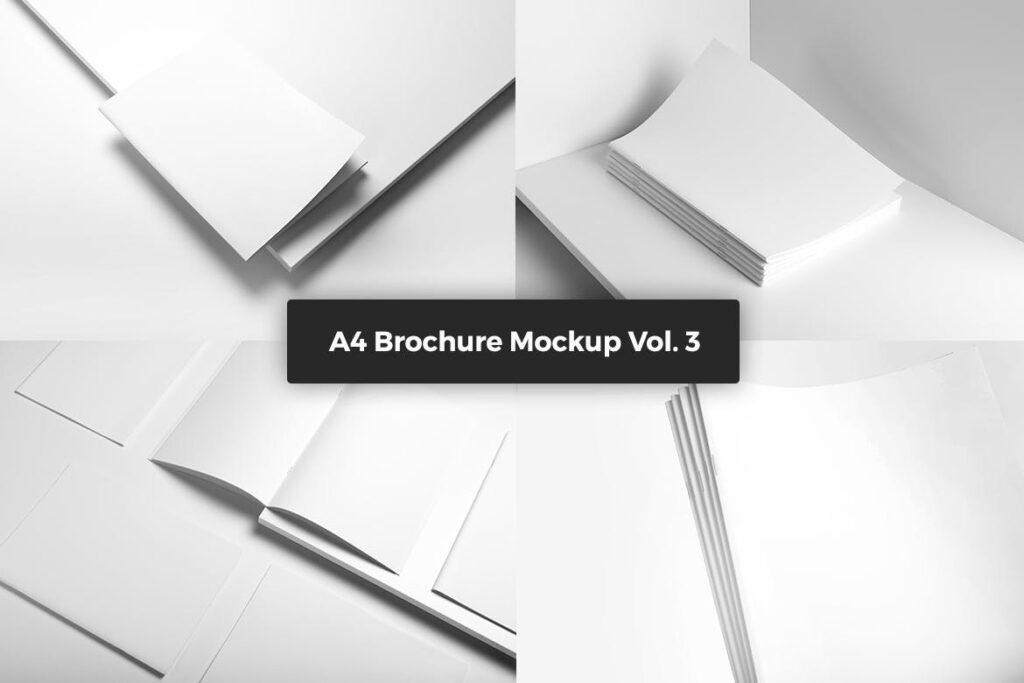 肖像A4小册子PSD模型模板样机Portrait Brochure Mockup Vol3插图(6)