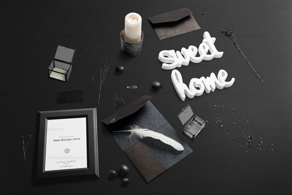 品牌海报相框模型样机下载Simple Homes Mockup Vol 6插图(6)