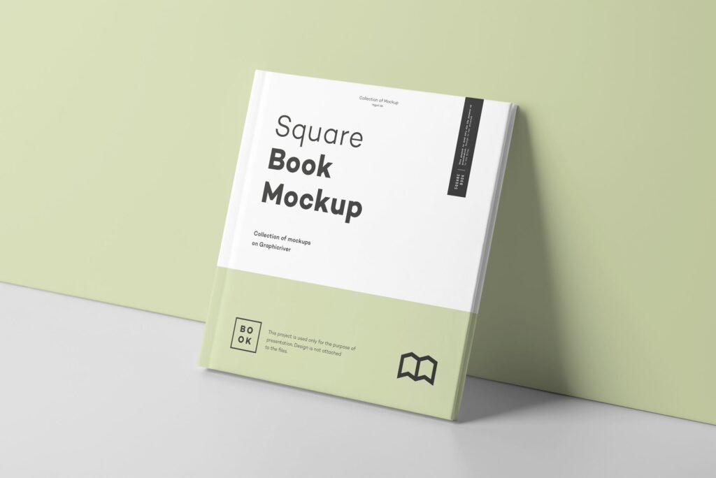 文艺优雅正方形书籍样机模板下载Square Book Mock up 2插图(6)