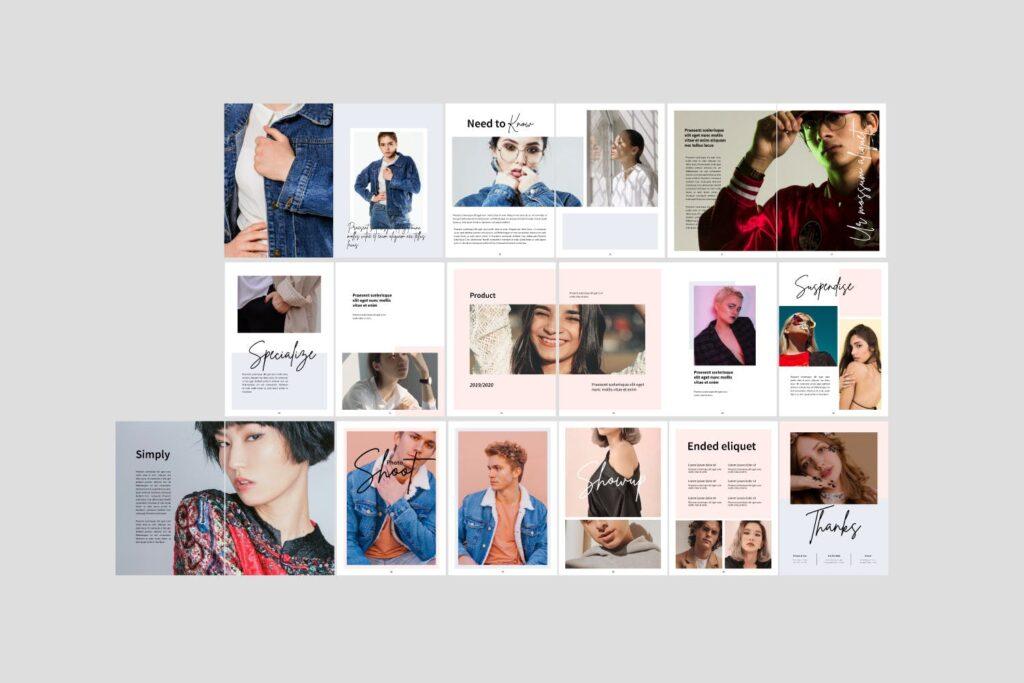 工作室室内设计行业产品目录展示画册Style Fashion Brochure Minimal Company Agency插图(6)
