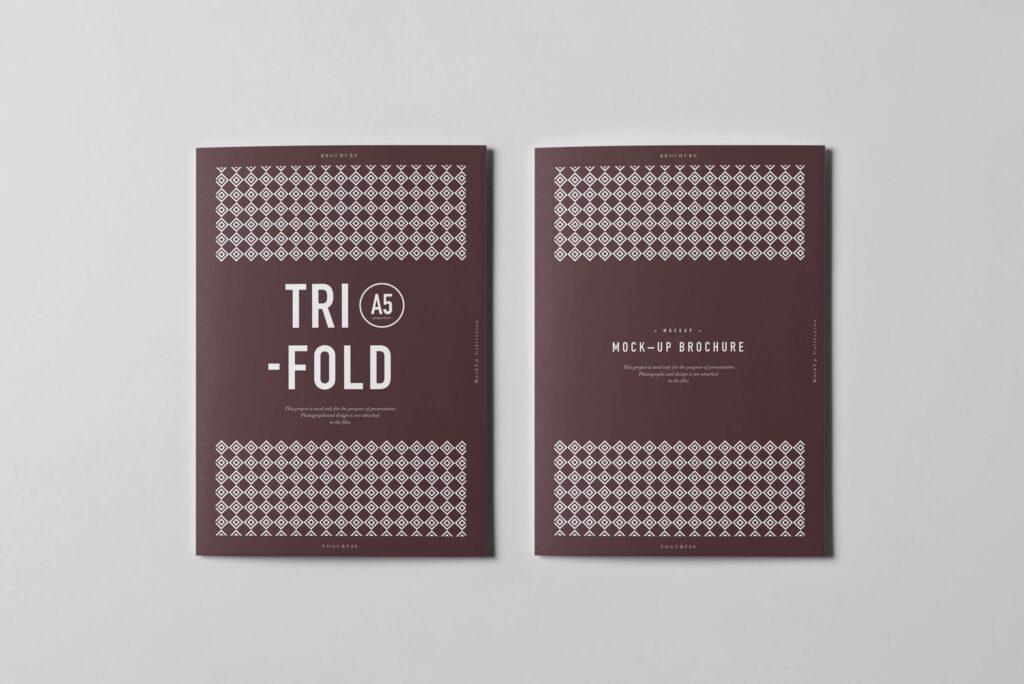 三折A5小册子模型素材模板样机下载Tri Fold A5 Brochure Mock up 2插图(6)