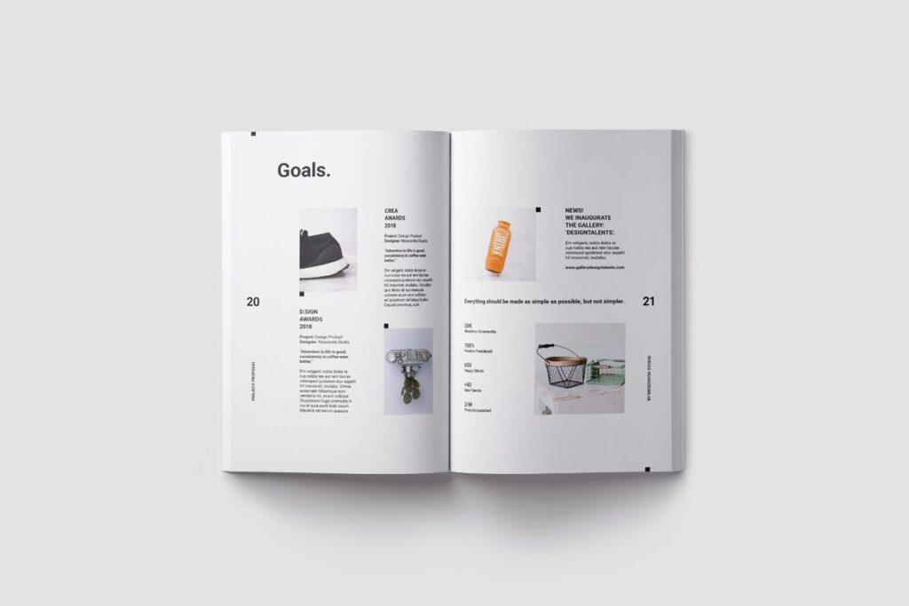 现代生活极致简洁家居设计/室内设计画册模版Voom Proposal插图(6)