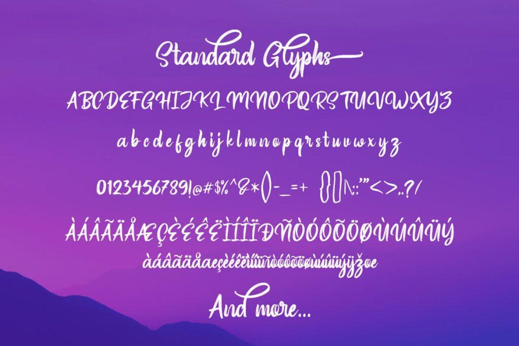 一款文艺签名手写英文字体/葡萄酒包装英文字体下载Wondertime Handwritting Script Font插图(4)