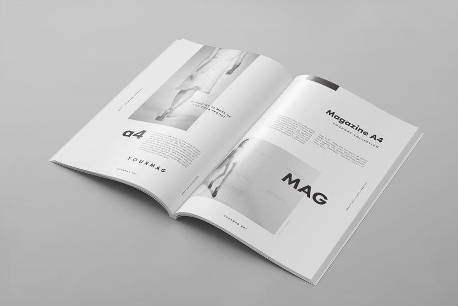 逼真的A4艺术类杂志/目录模型样机A4 Magazine Mockup 2插图(5)