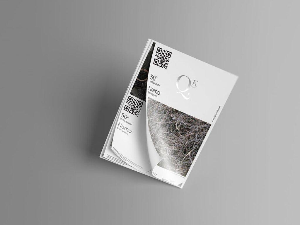 企业传单宣传册模型素材样机下载A4 A5 Poster Flyer Mockups V4插图(6)