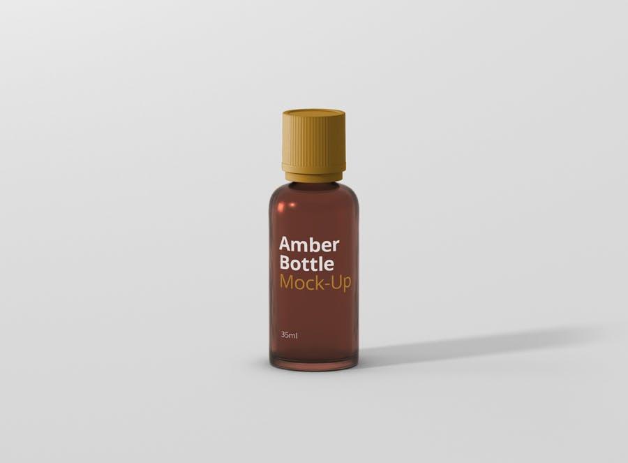 6个高品质琥珀药品瓶模型样机Amber Bottle Mockup插图(7)