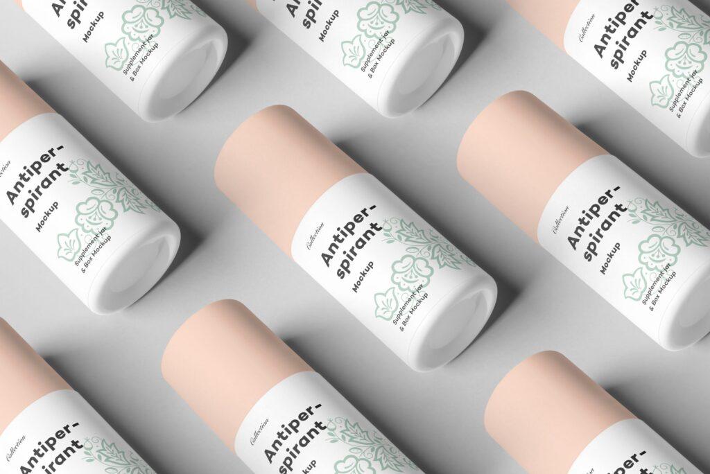 药品包装瓶瓶样机模型效果图下载Antiperspirant Mockup 2插图(7)