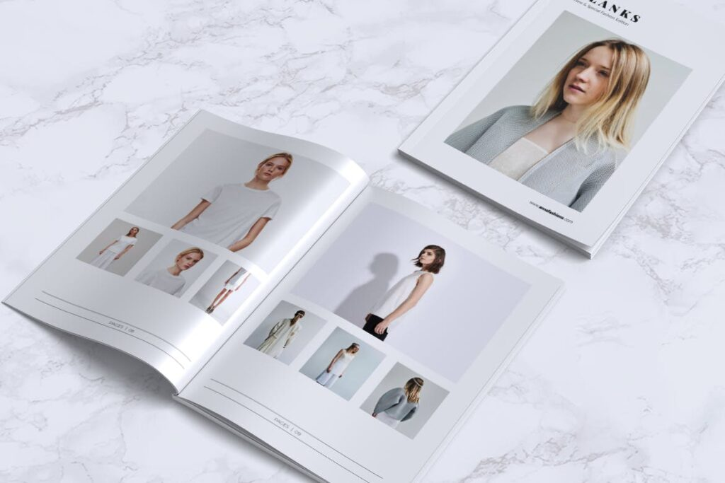 女性时尚服装品牌杂志模板BLANKS Minimal Fashion Magazine插图(7)