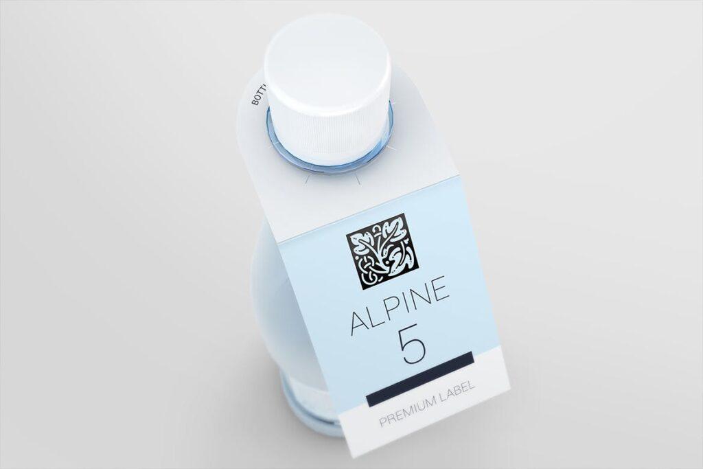 高端红酒标签样机模型效果图Bottle Neck Hang Tag Mockup插图(7)