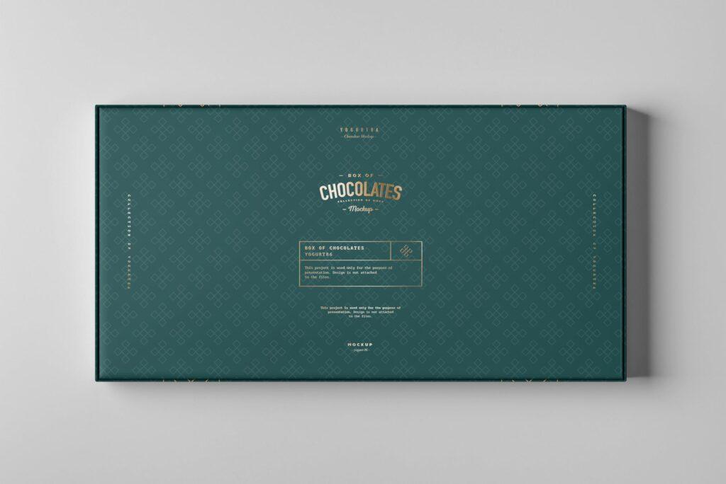 精致巧克力品牌包装模型样机效果Box Of Chocolates Mockup 2插图(7)