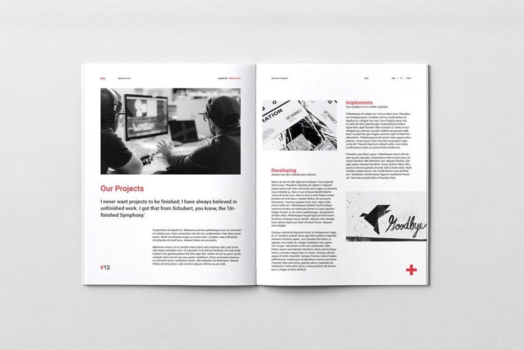 公司手册项目企划书画册模版素材Business Proposal插图(7)