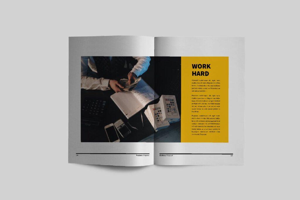 企业商务类画册模板素材画册模板Bussiness Proposal Brochure Company插图(6)