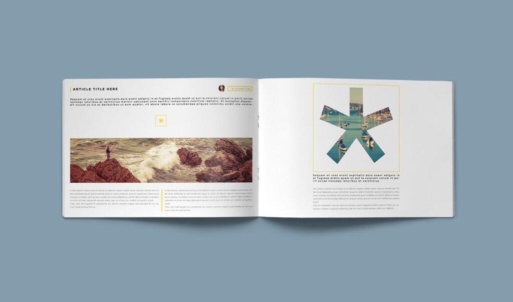 横版企业小册子/目录模板画册杂志模板Clean Brochure Catalog Template插图(7)