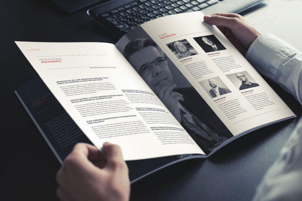 公司动态展示商业手册优雅简洁画册杂志模板Company Profile 001插图(6)