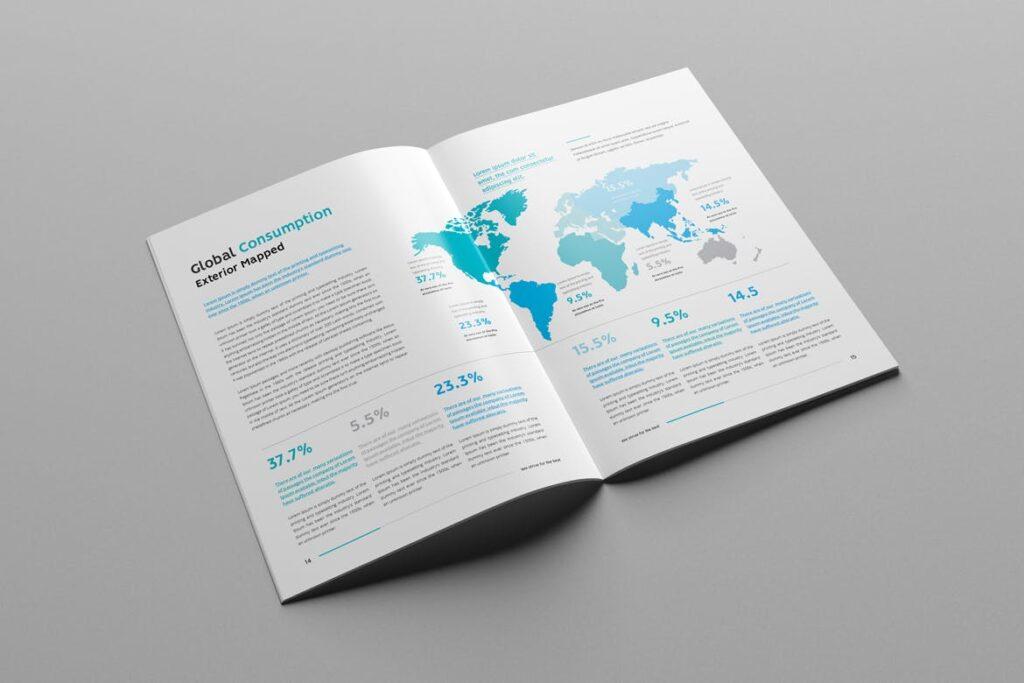 公司简介企业画册商务手册杂志模板素材Company Profile Z2NA6V插图(7)