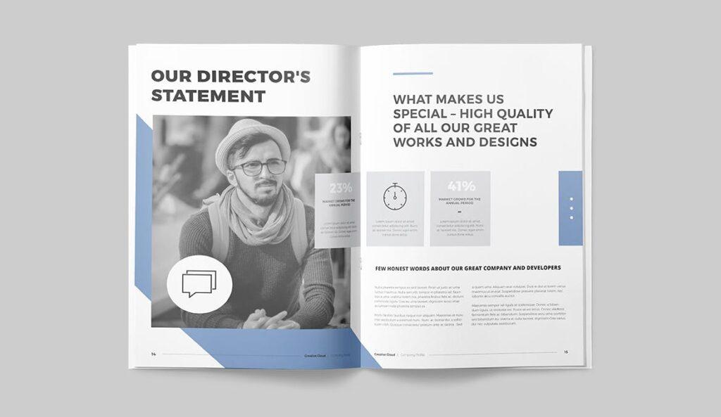 公司简介画册杂志模板素材下载Company Profile YT7HTG插图(7)