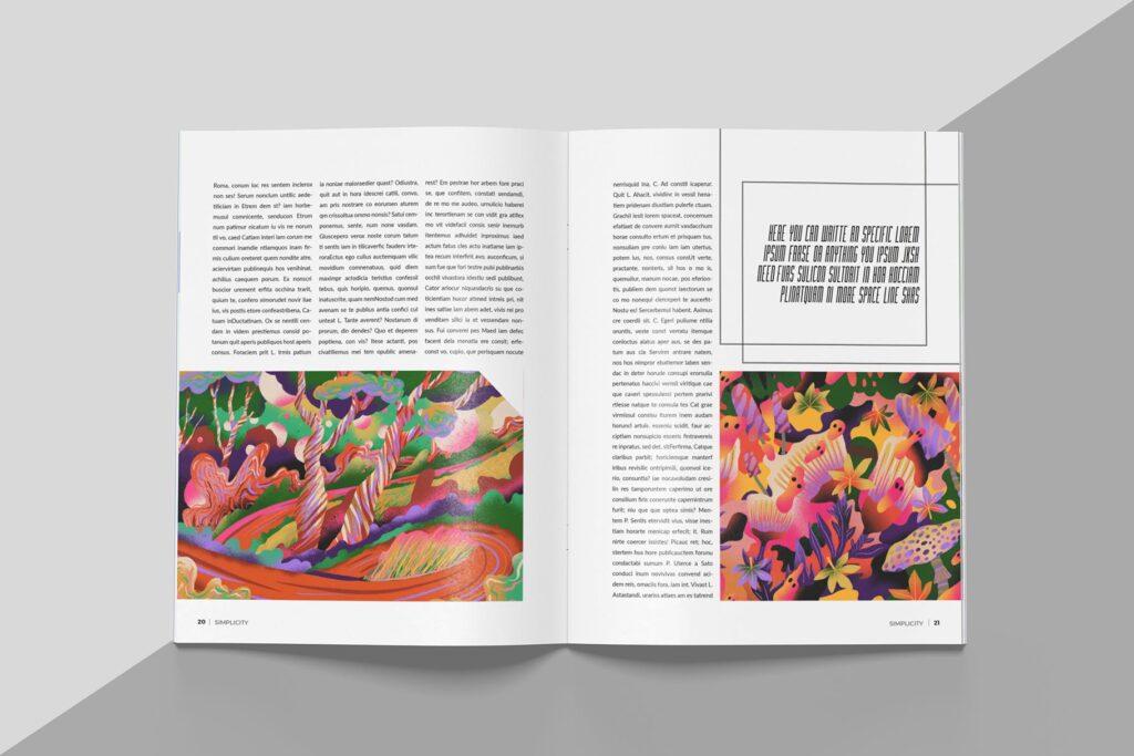 艺术品绘画作品展览画册杂志模板Create Magazine Template插图(6)