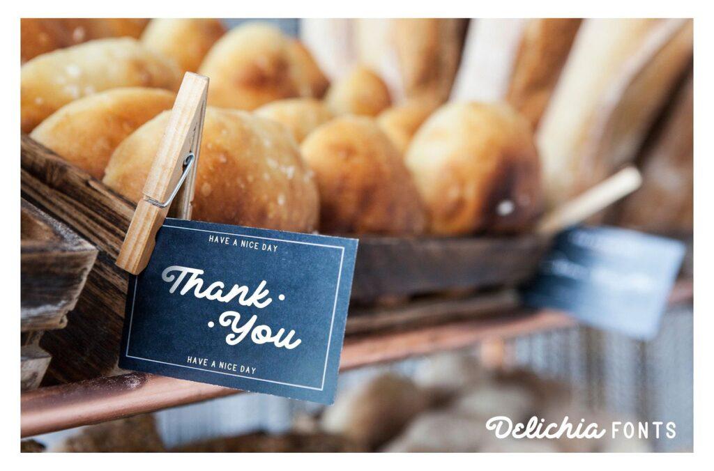 创意美食类餐饮/甜点手写英文字体下载Delichia插图(7)