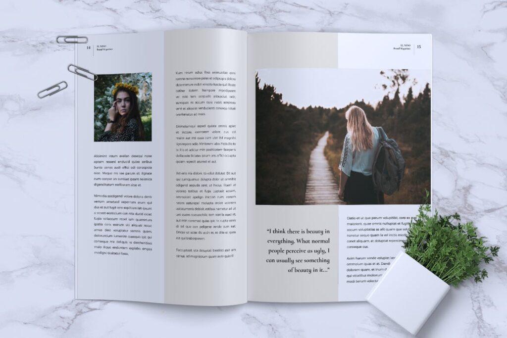 高端企业品牌宣传画册模板ELNINO Minimal Magazine插图(6)