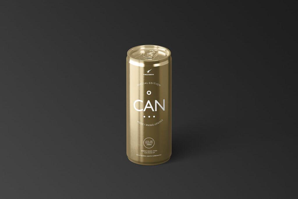 简约能量/苏打饮料易拉罐包装模型样机Energy Soda Drink Can Packaging MockUps Vol1插图(7)