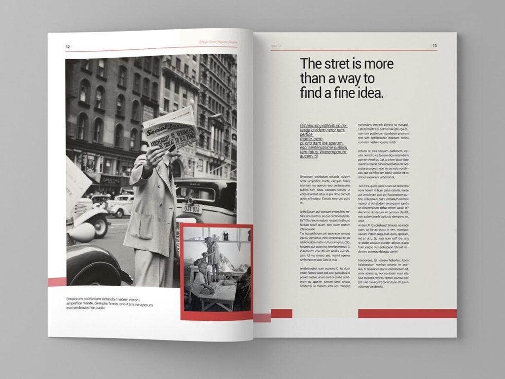 大纪元历史记录风格杂志画册模板素材Epoch Magazine Template插图(7)