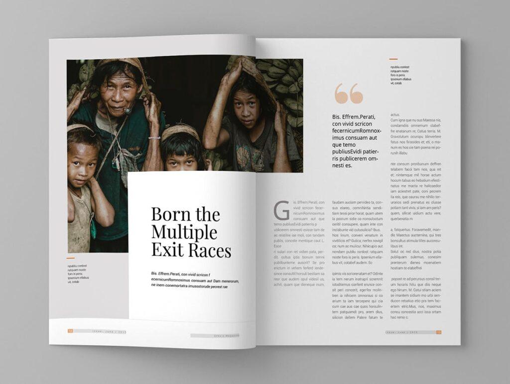 少数民族特色文化主题杂志模板Ethnic Magazine Template插图(7)