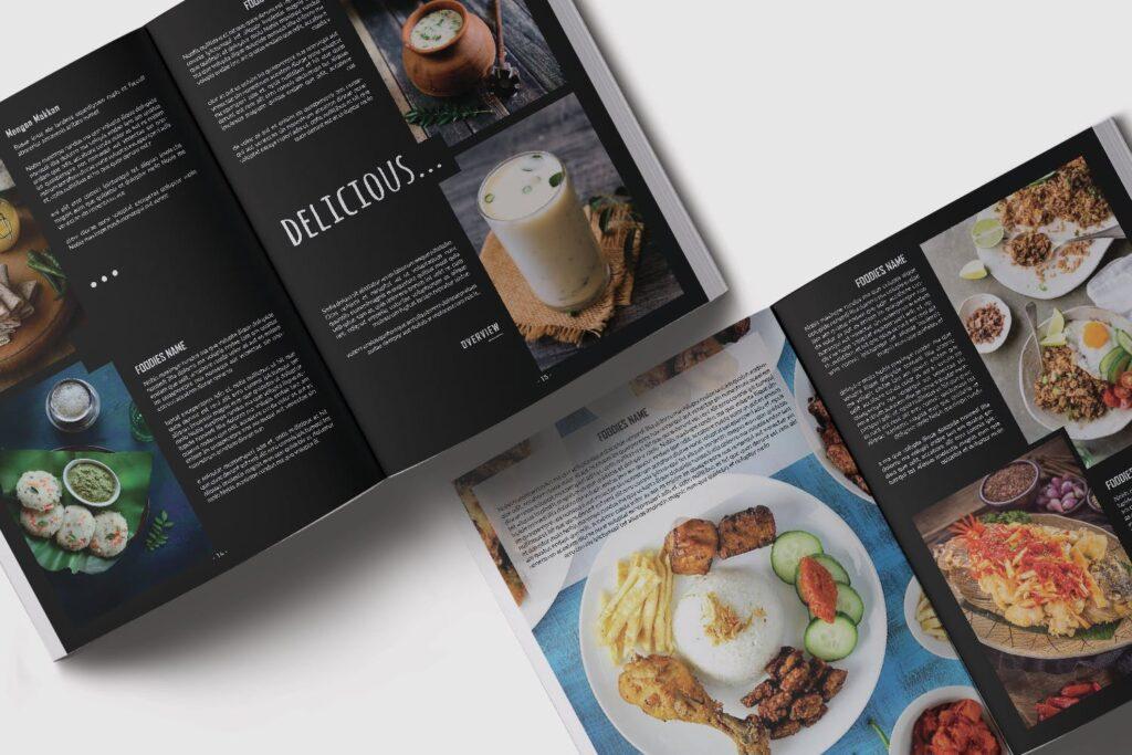 高端美食家餐饮美食料理周刊杂志模板FOODIES Photograph Lookbook插图(7)