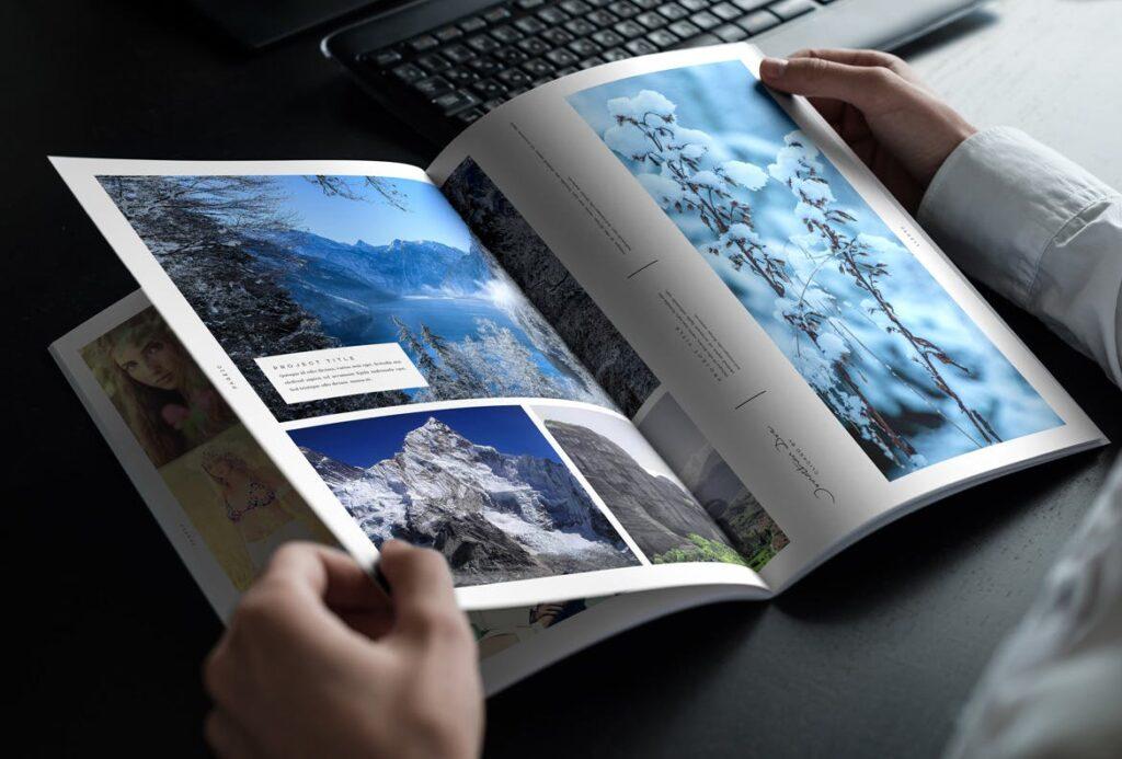 时尚摄影简洁板式画册杂志模板素材下载Fashion Photography Catalog Brochure插图(6)