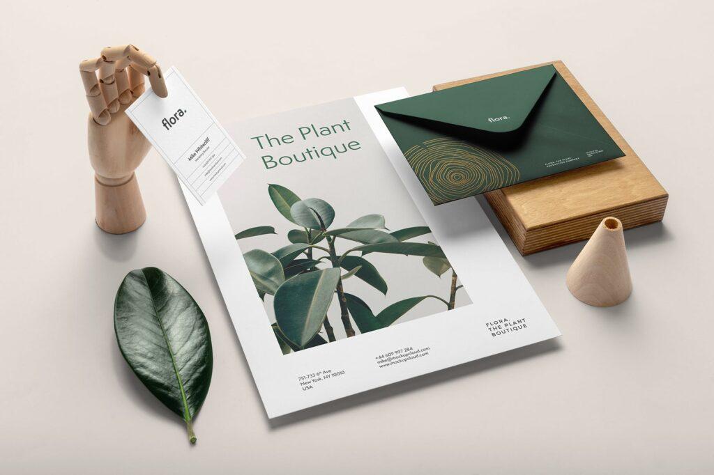 高端优雅品牌识别系统VI模型样机效果图Flora Branding Mockup Vol2插图(6)