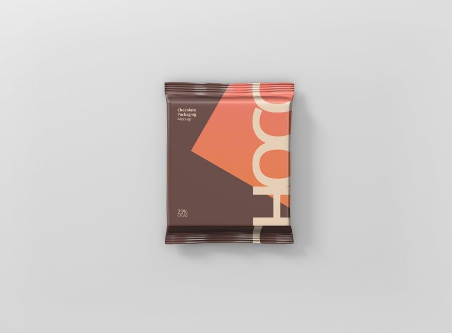 真空巧克力包装模型样机素材下载Foil Chocolate Packaging Mockup Square Size插图(7)