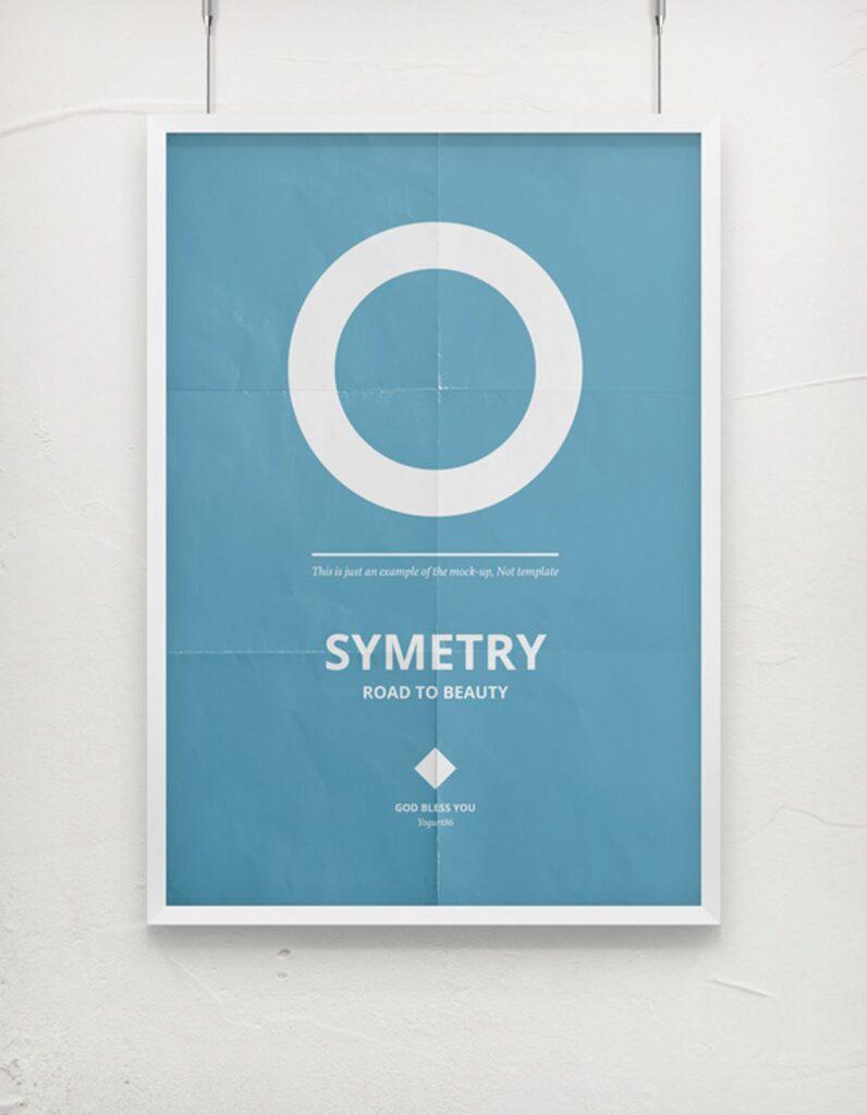 海报展示画框相框模型样机效果图Frame For Your Work 2插图(7)