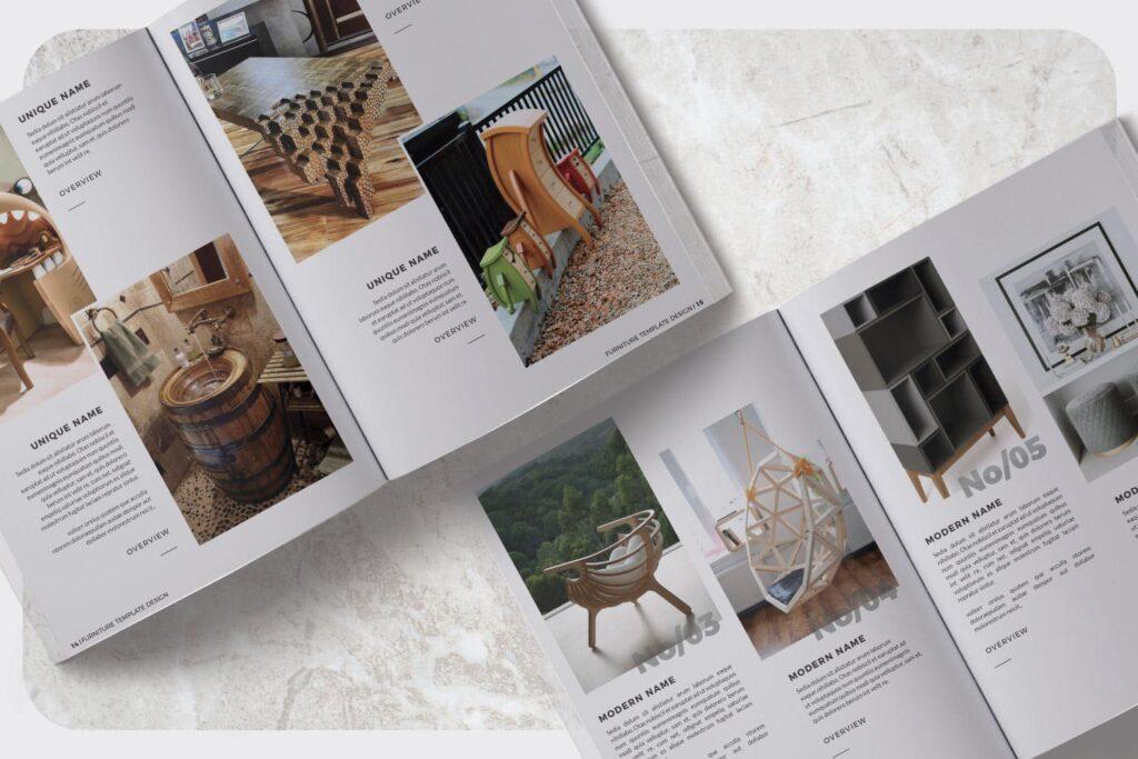 家具设计/室内设计画册杂志模版设计Furniture Collection Lookbook插图(7)