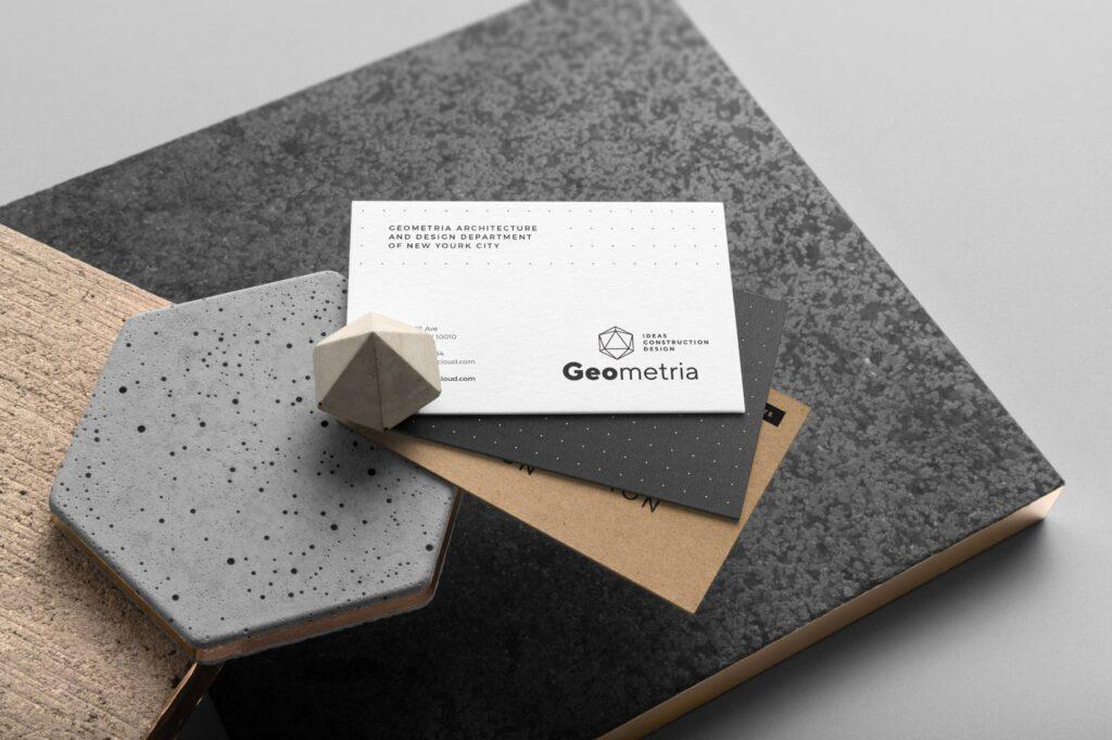 高端轻奢风房地产品牌VI模型样机效果图Geometria Branding Mockup Vol1插图(7)