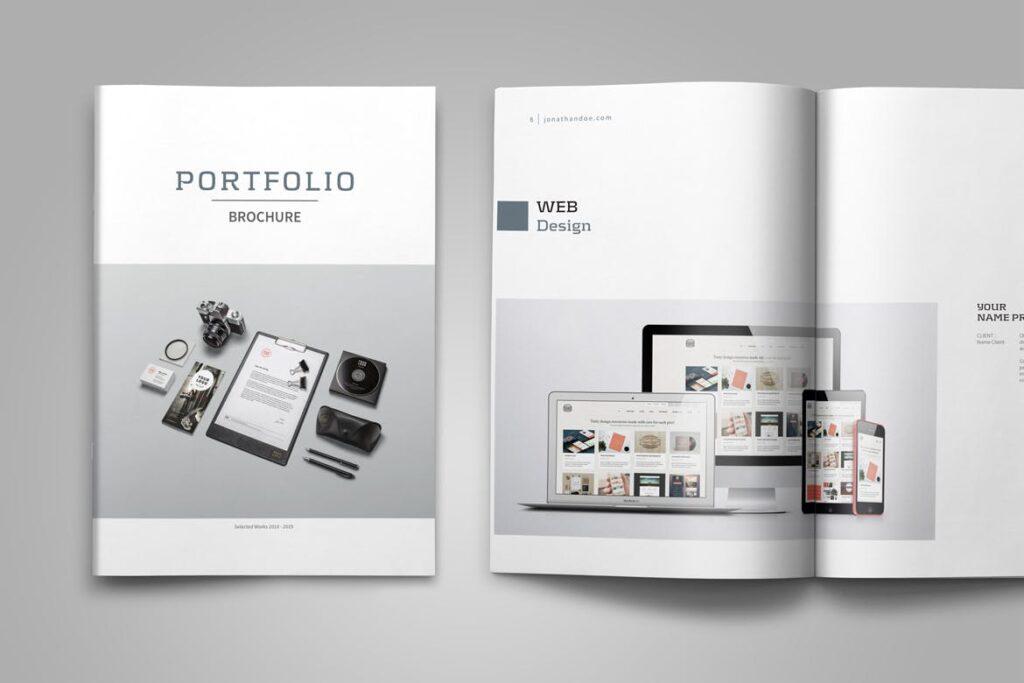 精致文艺平面设计作品集画册模板素材Graphic Design Portfolio Template插图(6)