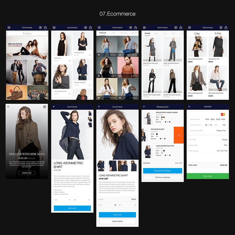 图片社交类应用UI组件模板素材Hexagon Mobile UI Kit插图(7)