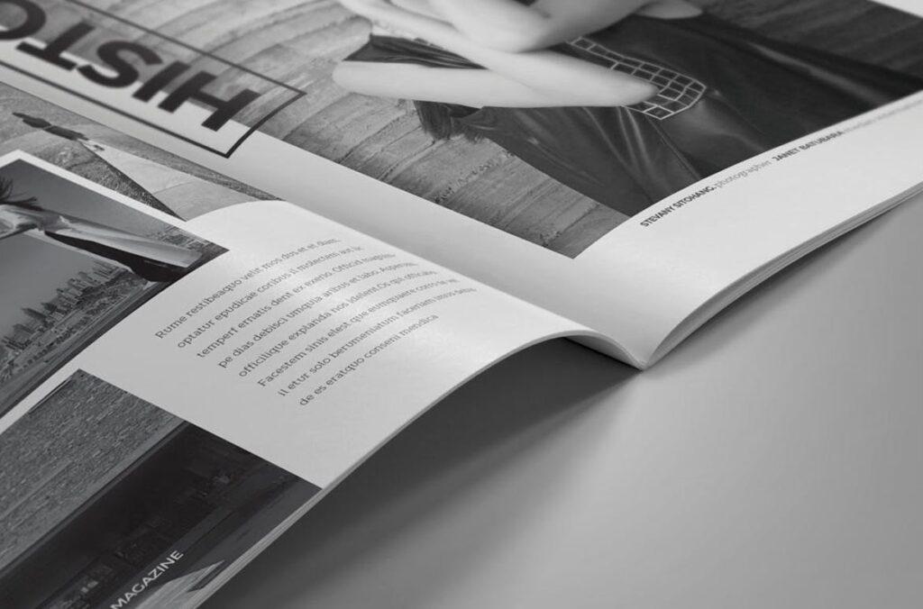 黑白风格历史介绍杂志模版素材InDesign Magazine Template WBM4TW插图(7)
